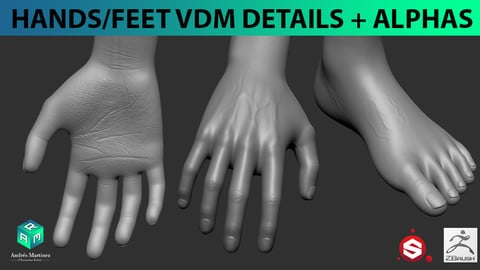 Hands and feet VDM detail brushes + Alphas