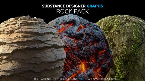 Substance Designer Graphs | Rock Pack