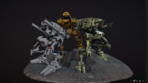 Robot 3 - Low-poly 3D model