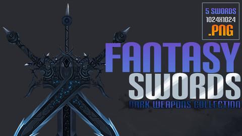 2D Dark Fantasy Swords