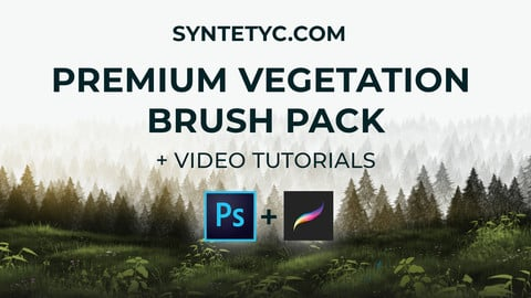 Premium Vegetation Brush Pack for Photoshop & Procreate