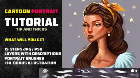 CARTOON PORTRAIT TUTORIAL / TIP AND TRICKS