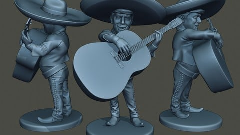 Donald Trump Mariachi Big Guitar