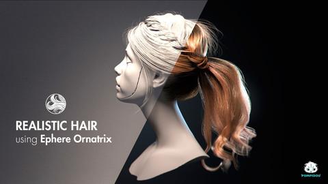 Realistic 3D hair tutorial