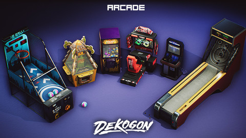 Arcade Machine Props VOL.3 [UE4+RAW]