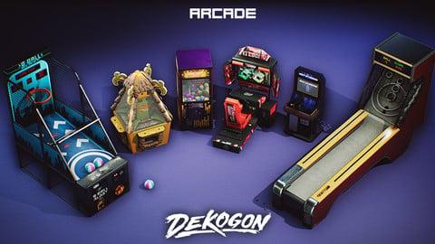 Arcade Machine Props VOL.3 [UE4+RAW]