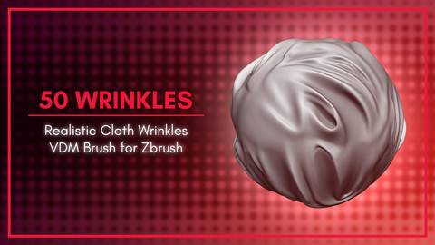 [VDM Brush] Fabric Wrinkles Cloth Brush for Zbrush 2019