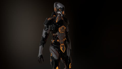 Sci Fi Character - Low Poly / PBR