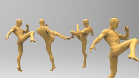 Sculpt Ready Martial Arts Action Pose - low res