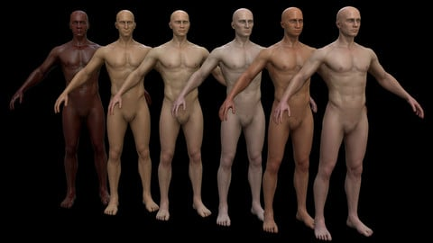 Multiple Ethnicity Male - Low Poly / PBR
