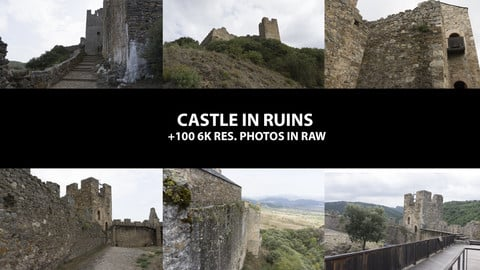 Castle in ruins +100 photos 6k res. in RAW