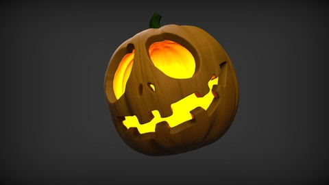 3D printable Halloween Pumpkin STL ZTL
