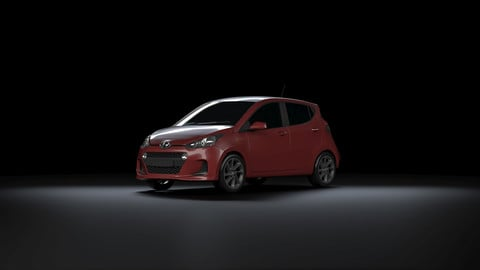 Hyundai i10 2017 for Vray in 3ds Max