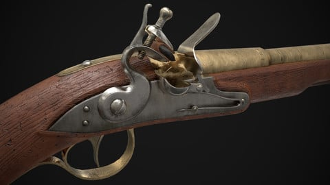 Flintlock Pistol (Game Ready)