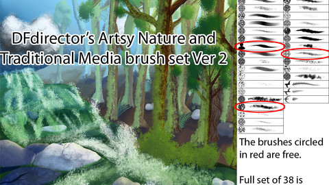 DF's Artsy Nature and Traditional Media Ver 2 Brushes