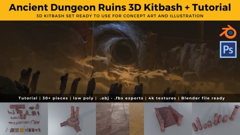 Dungeon Ruins 3D Kit Set & Tutorial