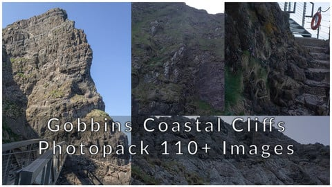 Gobbins Coastal Rock - 110+ photopack