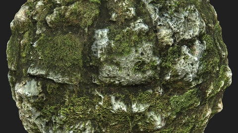 Mossy Stones Material Pack