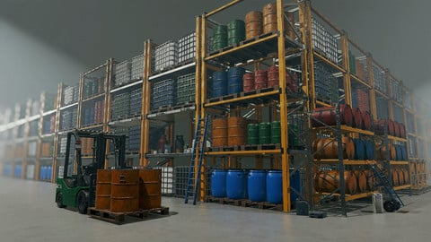 Chemical Industry Warehouse (Props Pack)