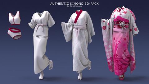 Authentic Kimono 3d-pack
