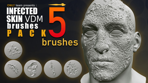 INFECTED SKIN VDM BRUSH PACK - 1024x1024