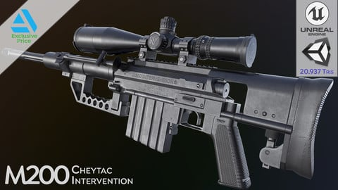 M200 Cheytac Intervention (PBR Game Ready - Sniper / Precision)