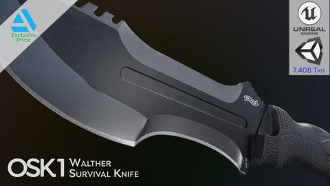 Walther Outdoor Survival Knife OSK1 (PBR Game Ready)