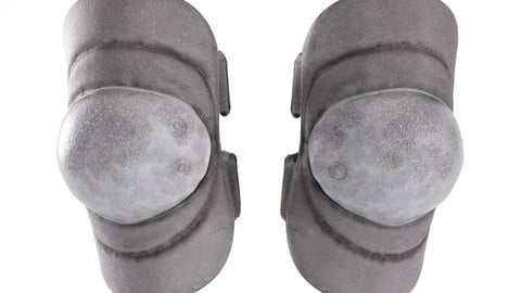Military black knee pads with PBR textures 11