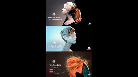 Collection. Tutorials. Creating realistic hair in 3d