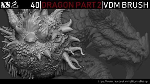 Zbrush - Dragon VDM Brush Part 2