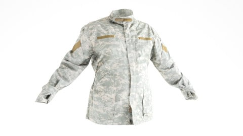 Military jacket of Army Combat Uniform with PBR textures 18
