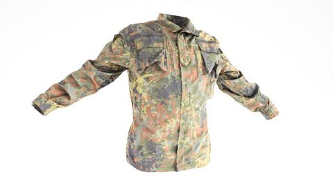 Military jacket of Bundeswehr Uniform with PBR textures 19