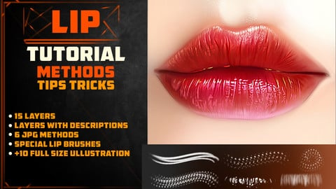 LIP TUTORIAL 4 / 6 BRUSHES / TIP AND TRICKS   PHOTOSHOP
