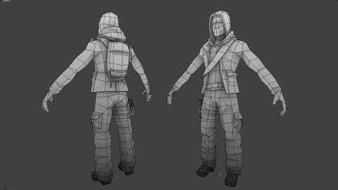 Dima | Game ready character base mesh
