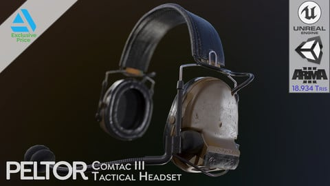 Peltor Comtac III (3) Tactical Headset (PBR Game Ready)