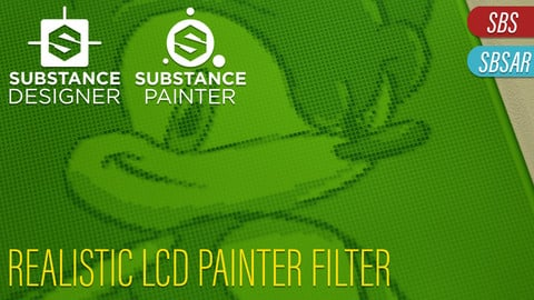 DotMatrix LCD Shader/Material - For Substance Painter