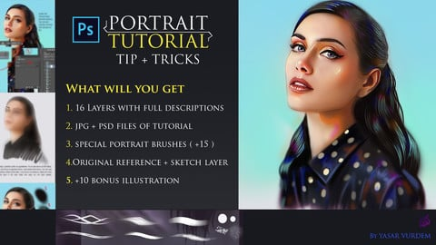 PORTRAIT TUTORIAL / + 15 BRUSHES / TIP AND TRICKS | PHOTOSHOP