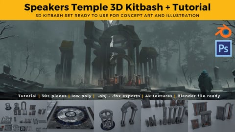 Speakers Temple - 3D Kit & Tutorial
