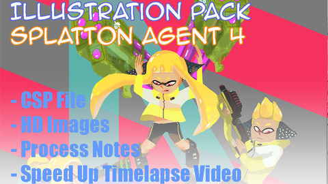 Splatoon Agent 4 Process + Illustration Pack