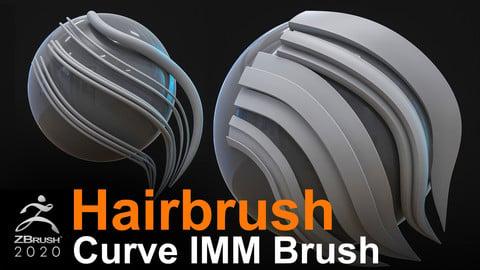 Hairbrush Curve IMM Brush