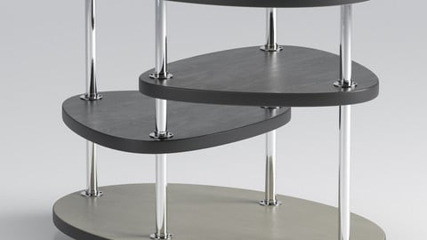 Oval table 85 3D model