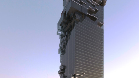 Revit Tower 3D model