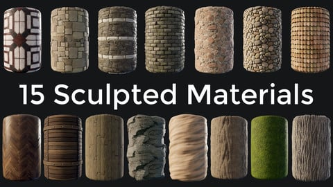 15 Sculpted Materials Collection