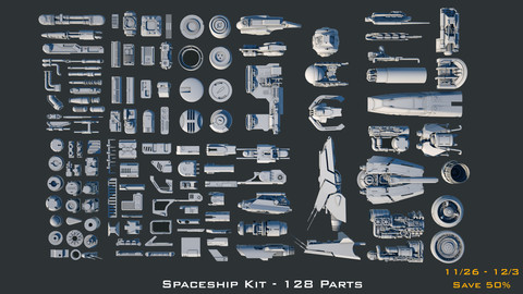 Spaceship Kitbash Kit