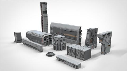 sci-fi Architecture kitbash 10