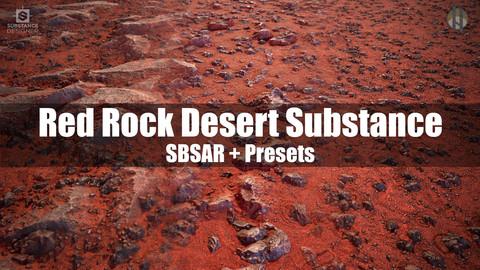 Red Rock Desert Terrain Substance