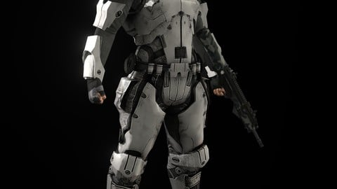 ciber suit Low-poly 3D model