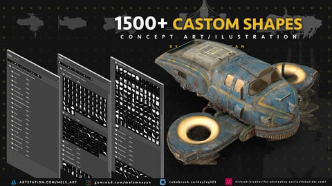 1500+ Kitbash  Custom shapes (by Mels Mneyan)