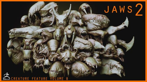 JAWS 2  - Another 33 Monster Mouths & Skulls IMM Brush