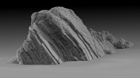 3D Asset Photoscan - Coastal Cliff